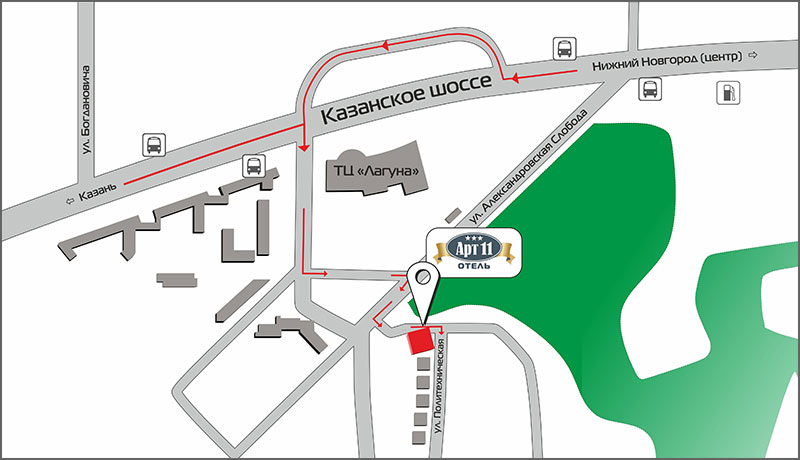 Дизайнерский Отель Арт11 -Карта проезда